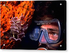Self Portrait On Snowfields Reef Acrylic Print