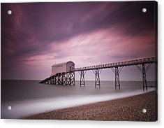 Selsey Lifeboat Station Acrylic Print by Nina Papiorek