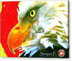 Semper Fi Acrylic Print by Carrie OBrien Sibley
