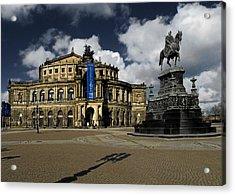 Semper Opera House Dresden - A Beautiful Sight Acrylic Print by Christine Till