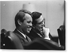 Sen. Robert Kennedy And Ted Sorenson Acrylic Print by Everett