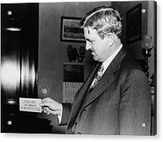 Senator Clarence C. Dill Of Washington Acrylic Print by Everett