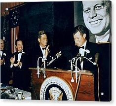 Senator Edward Kennedy Introduces Acrylic Print by Everett