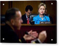 Senator Hillary Clinton A Member Acrylic Print