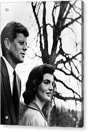 Senator John F. Kennedy, Jackie Acrylic Print by Everett