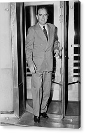 Senator Joseph Mccarthy, Leaving Acrylic Print by Everett