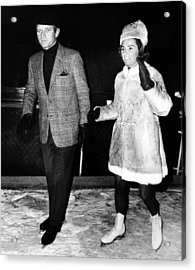Senator Robert F. Kennedy And Ethel Acrylic Print by Everett