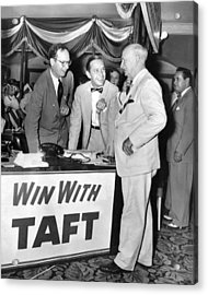 Senator Robert Tafts Two Sons Promote Acrylic Print by Everett