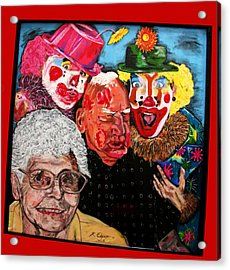 Send In The Clowns Acrylic Print by Karen Elzinga