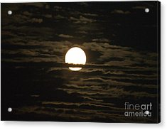 Acrylic Print featuring the photograph Seneca Lake Moon by William Norton