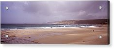 Sennen Cove Beach At Sunset Acrylic Print by Axiom Photographic