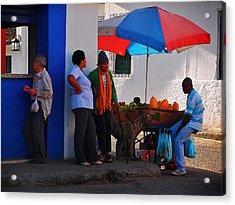 Senor Papaya Acrylic Print by Skip Hunt