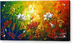 Sentient Flowers Acrylic Print by Uma Devi