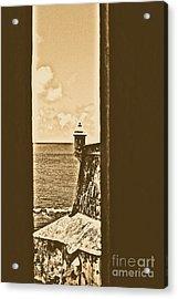 Sentry Tower View Castillo San Felipe Del Morro San Juan Puerto Rico Rustic Acrylic Print