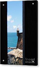 Sentry Tower View Castillo San Felipe Del Morro San Juan Puerto Rico Acrylic Print by Shawn O'Brien