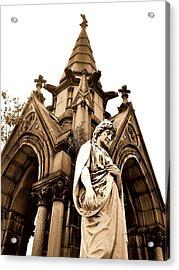 Sepia - Forrest Lawn Cemetery - Buffalo New York Acrylic Print