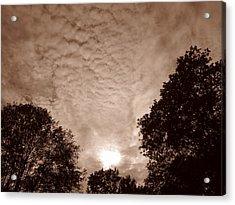 Sepia Clouds Acrylic Print
