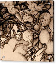 sepia VINTAGE BALLPOINT DETAIL Acrylic Print
