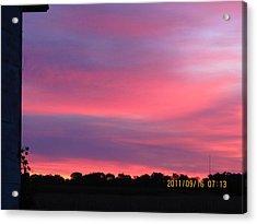 September 16 Sunrise Five Acrylic Print by Tina M Wenger