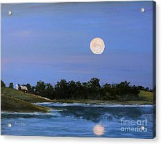 Acrylic Print featuring the painting September Moon by Susan Fisher