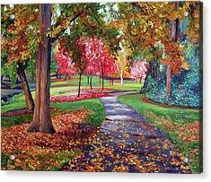 September Park Acrylic Print by David Lloyd Glover