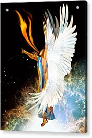 Seraph Calls Out Acrylic Print by Ron Cantrell