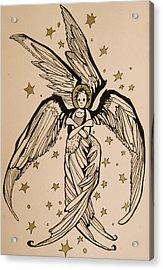 Seraphim Acrylic Print by Jackie Rock