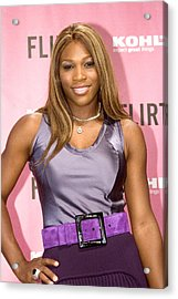 Serena Williams At The Press Conference Acrylic Print