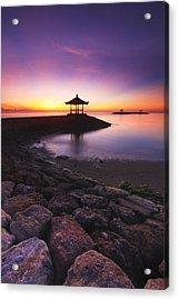 Serene Dawn Acrylic Print by Pandu Adnyana