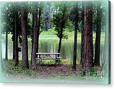 Acrylic Print featuring the photograph Serene Escape by Kathy  White