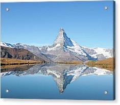Serene Matterhorn Acrylic Print by Monica and Michael Sweet
