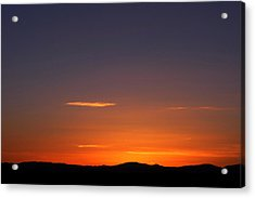 Acrylic Print featuring the photograph Serene Sunset by Paul Cutright