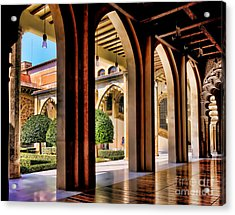 Acrylic Print featuring the photograph Serenity - Palace Garden by Jack Torcello