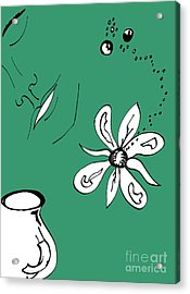 Serenity In Green Acrylic Print