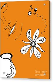 Serenity In Orange Acrylic Print
