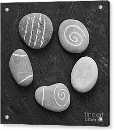 Serenity Stones Acrylic Print by Linda Woods