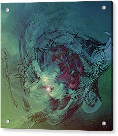 Serpent Head Acrylic Print by Linda Sannuti
