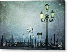 Servizio Gondole Acrylic Print by Marion Galt