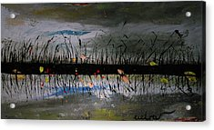 Set On The Firth Marshes Of Karalino Bugaz Goodbye Winter Acrylic Print by Alik Vetrof
