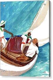 Setting Sail Acrylic Print by Harry Richards