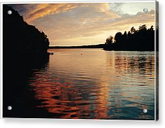 Acrylic Print featuring the photograph Setting Sun by Patricia Hiltz