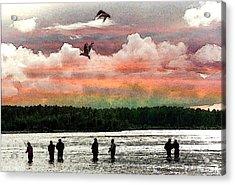 Seven Fishermen Acrylic Print