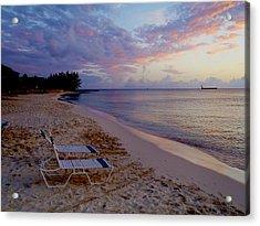 Seven Mile Beach Sunset Acrylic Print by Carey Chen