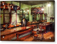 Sewing - Industrial - The Sweat Shop  Acrylic Print by Mike Savad