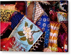 Sewing - Patchwork - Grandma's Quilt  Acrylic Print by Mike Savad