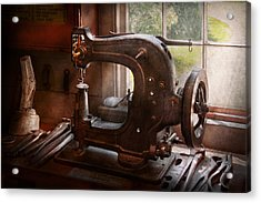 Sewing Machine - Leather - Saddle Sewer Acrylic Print by Mike Savad