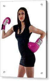Sexy Boxer Acrylic Print by Jim Boardman