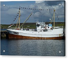 Sf-5-nv Visiting Shetland Acrylic Print by George Leask