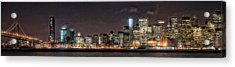 Sfo At Nite Acrylic Print by Gary Rose