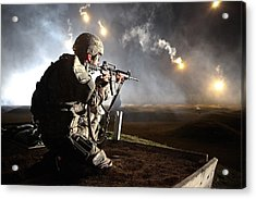 Sgt. Larry J. Isbell During The Armys Acrylic Print by Everett